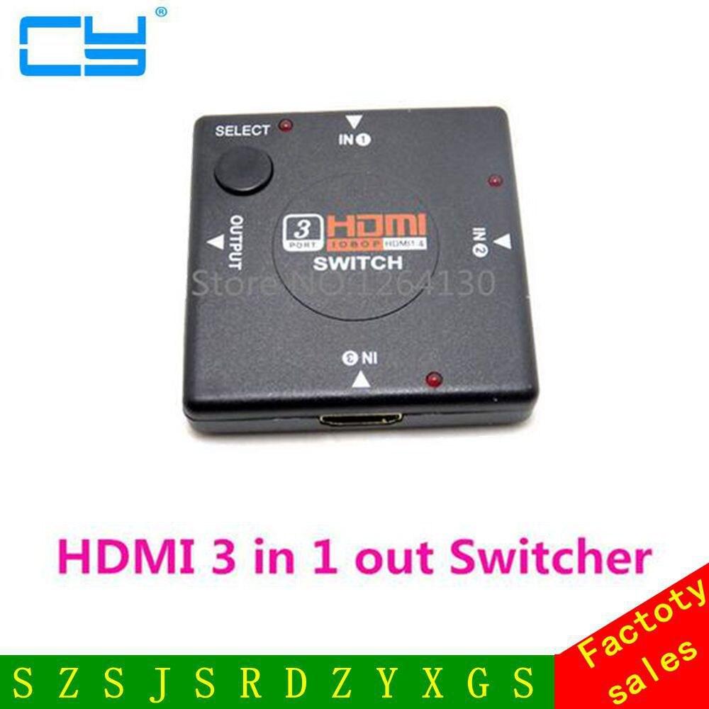 ჱHDMI switch 3 Puerto divisor 3 en 1 fuera selector adaptador para ...