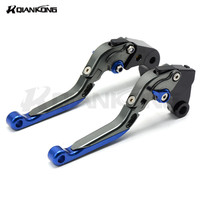 Customized Logo Universal Aluminum Foldable Adjustable Motorcycle Clutch Brake Levers FOR GSXR1000 2005 2006 GSXR600 2006