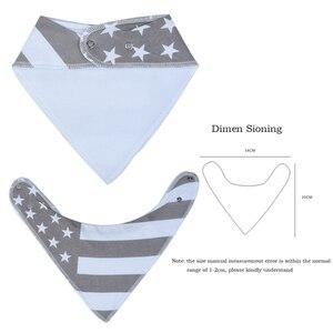 Image 2 - 16 sztuk/zestaw Unisex Baby Bandana śliniaki, 100% bawełniane śliniaki, Super stylowe wodoodporne i przeciw zabrudzeniom absorbują