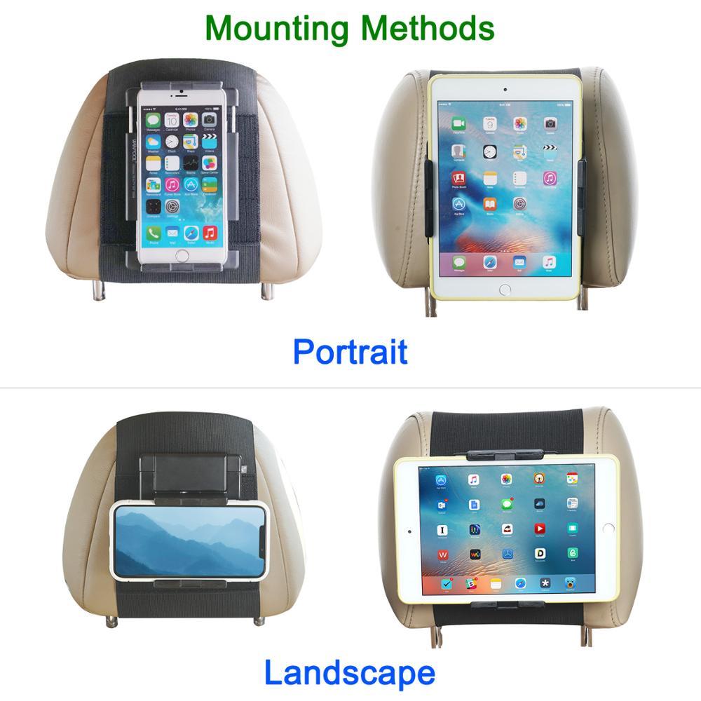Kindle Car Headrest Mount Black WANPOOL Car Headrest Mount Holder Compatible with 7-10 Inch Kindle Fire Tblets
