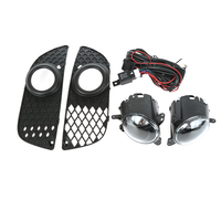 2Pc Car Front Grill Angel Eyes Fog Lights Driving Lamps For Mitsubish Lancer 2008 2013 With