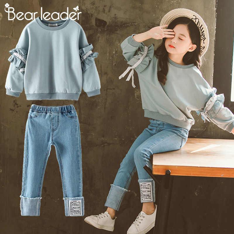 Bear Leader Ropa Para Chicas Adolescentes Trajes Top Y Pantalones De Tela Vaquera Conjuntos De Ropa Para Ninos De 4 A 13 Anos 2021 Set De Ropa Aliexpress