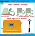 LCD High Power Dual Band GSM 900MHz DCS 1800MHz Mobile Cell Phone Signal Booster Amplifier Repeater kit for 2 rooms or offices