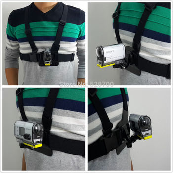 4in1 1set Chest Belt Strap Mount + J-Hook + Screw for Sony Action Cam HDR-AS15/AS20/AS30V/AS100V FDR-X1000V/W фото
