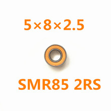 Free Shipping 1piece SMR85 2RS CB ABEC7 5x8x2.5mm Hybrid ceramic si3n4 balls+ Stainless steel rings bearing