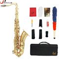 LADE Carved Pattern Pearl Brass Bb Tenor Saxophone Sax White Shell Buttons with Case Gloves Cleaning Cloth Grease Belt Brush