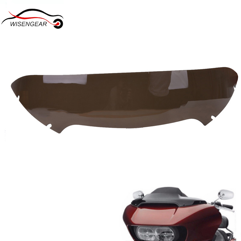 Smoked Dark 5 Windscreens Deflector Windshield For Harley Road Glide FLTR FLTRX 2015 2017 Motorcycle Wind Screens #