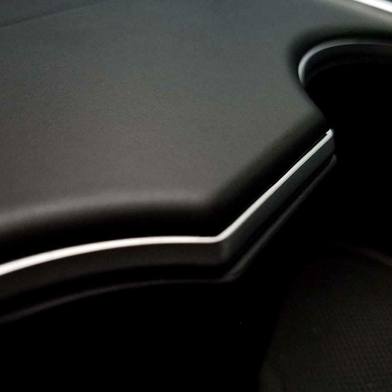 For Tesla Model 3 Car Stickers Decals Decorations Cover Part Matte Black Set Kit