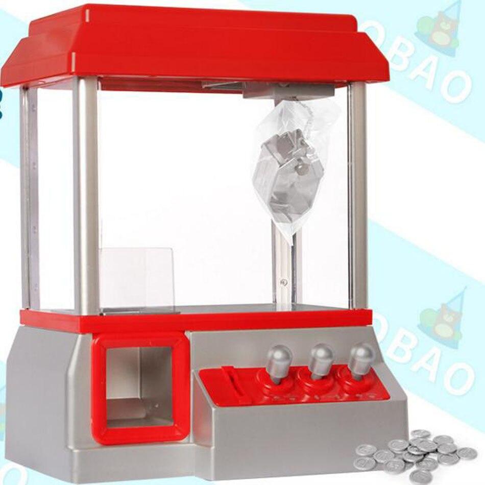 2018 Candy Grabber Backlit Button Desktop Mini Dolls Grabber Machine Claw Toys Mini Arcade Machine Slot