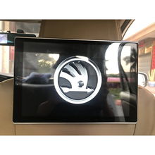 цена на 2019 New Model 11.8 Inch LCD Android 7.1 OS Car Headrest DVD Industry first 2.5D Arc Screen For Skoda All Models TV Monitor 2PCS