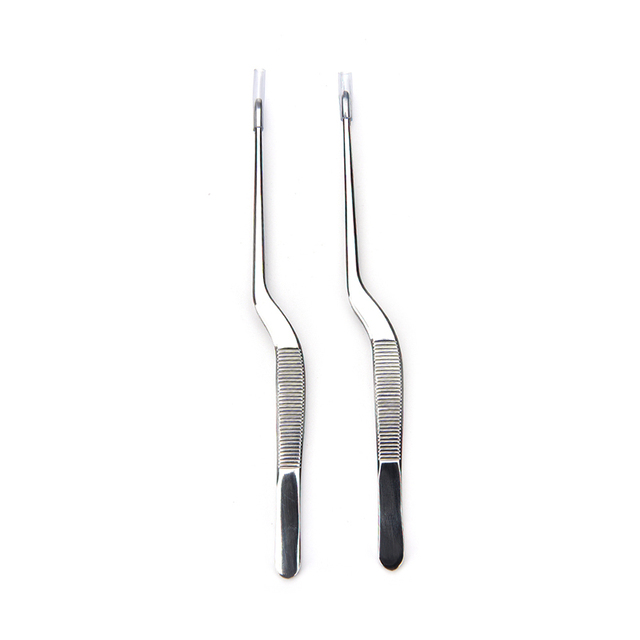 1PC Stainless Steel Curved Tweezer Ear Nose Clip Health Care Makeup Cosmetic Tools Medical Use