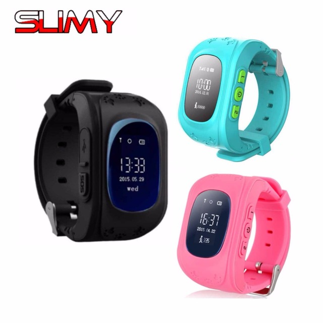 Slimy Kids GPS Smart Watch Q50 Anti-Lost Smartwatch SOS Call Location Tracker Support 2G SIM Card Clock Hour for Kids Child Gift