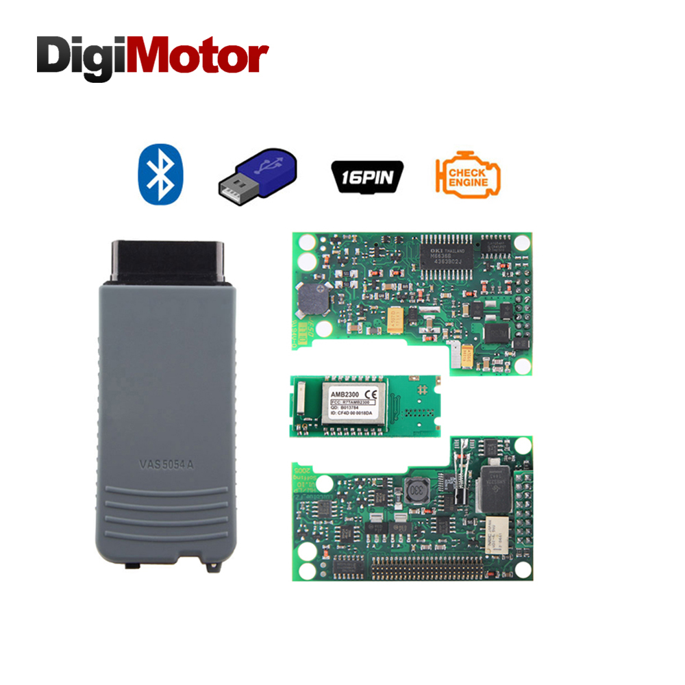 Digimotor VAS 5054A Full Chip OKI AMB2300 UDS ODIS v4.0.0 OBD2 Bluetooth Adapter VAS5054A VAS5054 5054 Auto Diagnostic Scanner high quality vas5054a with oki full chip car diagnostic tool support uds protocol vas 5054a odis v4 13 bluetooth for audi for vw