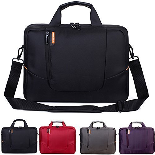 BRINCH Nylon Waterproof Laptop Case with Side Pockets for Macbook Pro Retina 14 15 inch Mini Asus/DELL/HP/Samsung