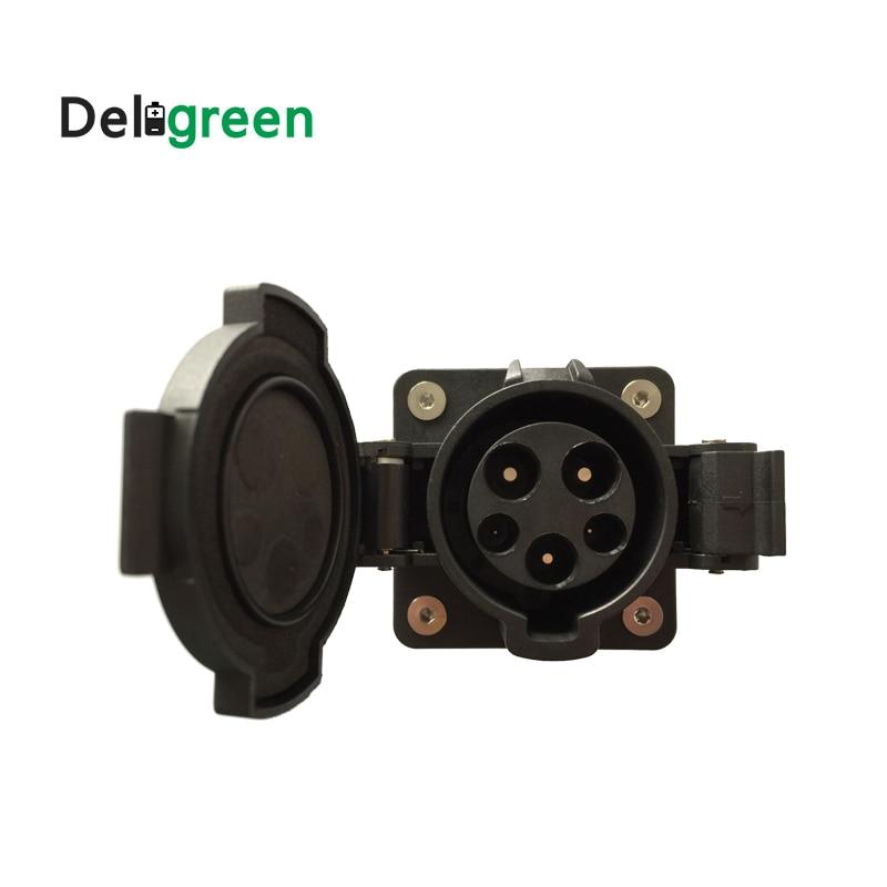 32A socket Original SAE J1772 AC Inlet 120V 240V AC Electric Plug without Cable for EV