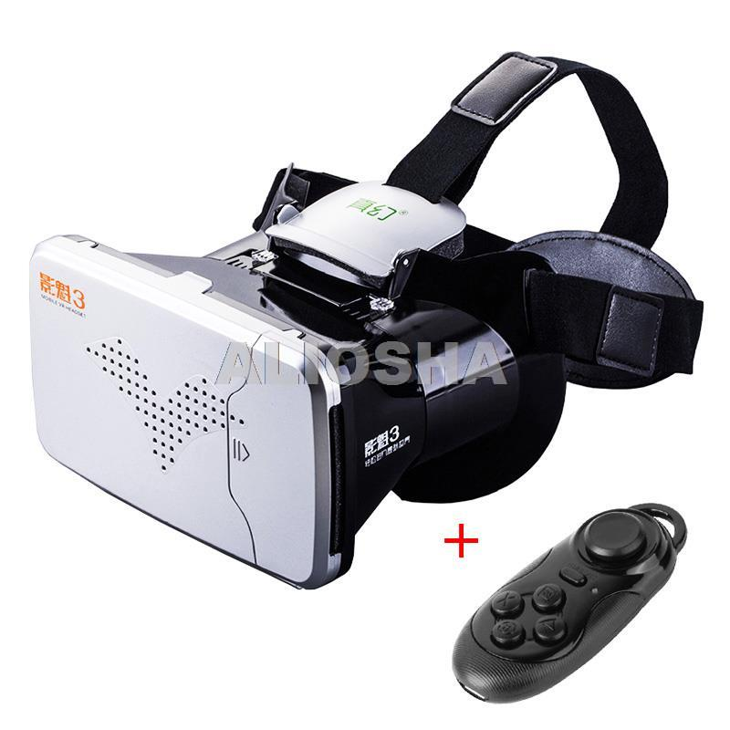 "2016 New Arrive FlashStar 3D <font><b>VR</b></font> <font><b>Glasses</b></font>+Gamepad Android/<font><b>For</b></font> <font><b>iPhone</b></font> 3.5""-6.0"" SmartPhone <font><b>Head</b></font> <font><b>Mount</b></font> <font><b>Plastic</b></font> Cardboard Google"