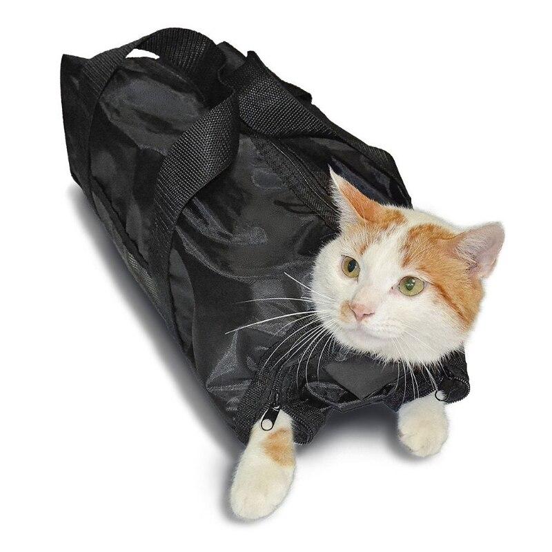 Pet Cat Grooming Bag Cat Bathing Restraint Bag Claw Nail Trimming Examing Bag