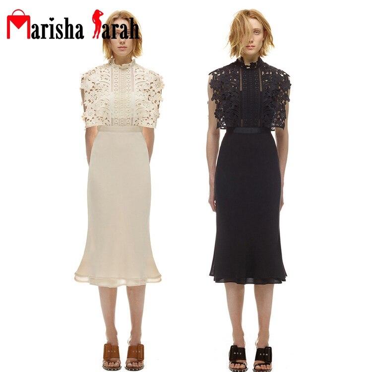 fashion luxury designer runway dress women sleeveless elegant lace