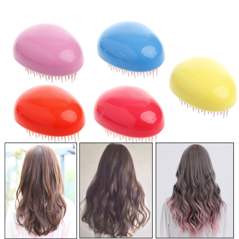 1pc Egg Design Magic Hair Brush Plastic Tangle Detangling Comb Head Scalp Massage Comb Salon Shower Hair Styling Tools #Y207E#
