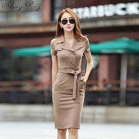 Women sundresses office dresses for women 2018 women business casual clothing dress 2018 spring summer CC474