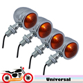 4x Mini Motorcycle Chopper Bike Turn Signals Flashers Universal Motorbike Light for Suzuki TS DR DRZ DR350 650 DL DRZ400 GSXR SV