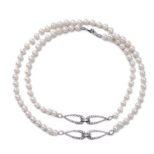 La moda de estilo Europeo y Americano Super largo joker necesario verano collar de perlas de cristal