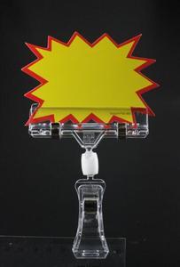 Image 1 - Supermarket Shelf Talker Clear plastic sign holder POP Clip Advertising Display Stand Label Holder Price Tag Display Card Clamp
