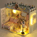 Diy Doll House furniture the house for dolls Buliding Dollhouses Model Toy dollhouse miniature Educational Toys Birtyday Gifts