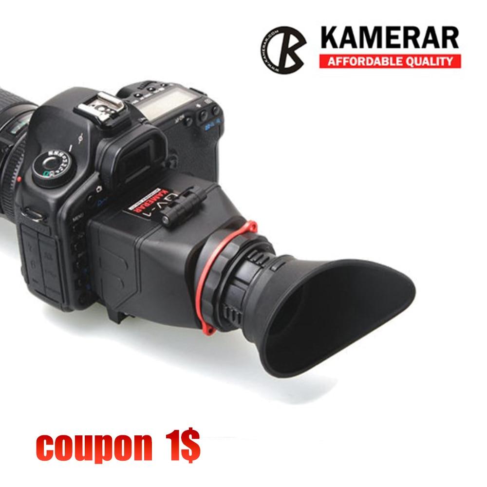 KAMERAR QV 1 LCD VIEWFINDER VIEW FINDER FOR CANON 5D MarK III II 6D 7D 60D