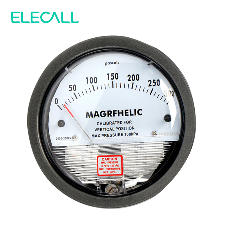 Best Sale 0-300PA TE2000 Micro Differential Pressure Gauge High Precision 1/8