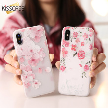 KISSCASE 3D Flower Case For iPhone 6 6s Plus Cases Girly Soft Silicone Cover X 8 7 5 5s SE Full Protective Funda