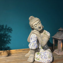 Villa garden courtyard sleeping Buddha ornament Zen ornaments gardening landscaping shop furnishings window display(China)