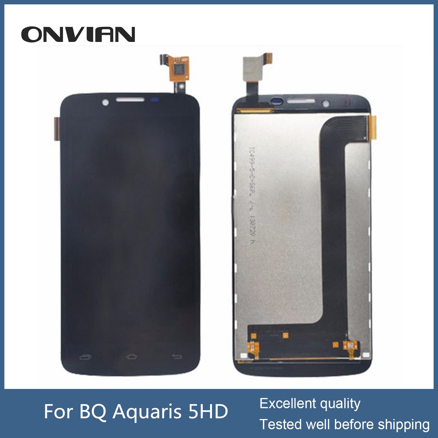 BQ Aquaris 5HD LCD Display and Touch Screen Digitizer Assembly for BQ Aquaris 5 HD LCD digitizer module without frame