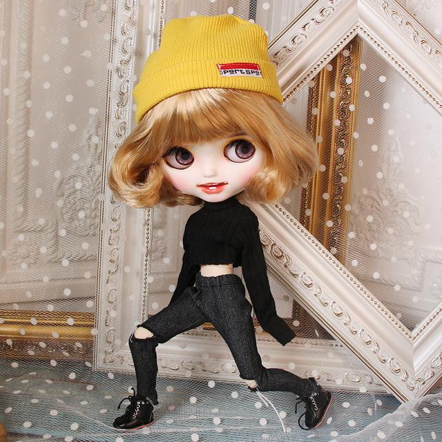 Cherida - Premium Xüsusi Blythe Doll ilə Geyimi Gülən Üz