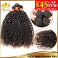 Монгольский Странный Вьющиеся Волосы 3 Пучки Afro Kinky Вьющиеся Волосы Девственницы 8-30 Дюймов Remy Человеческих Наращивание Волос Горячим монгольский Плетение Волос