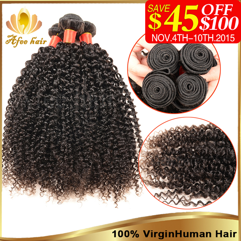 Mongolian Kinky Curly Hair 3 Bundles Afro Virgin 8-30Inch Remy Human Extension Hot Braiding