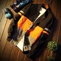 Мужчины Куртка Осень Лоскутное Куртка 3 цвета Хип-Хоп Deporte moto куртки Ветровка Мужчины Пальто Тенденция Бренд большой размер 5xl