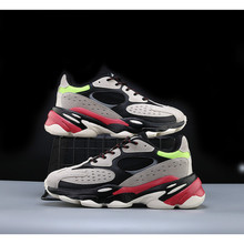 Hip Hop off Harajuku colorful chunky Sneakers Men Breathable Mesh Casual