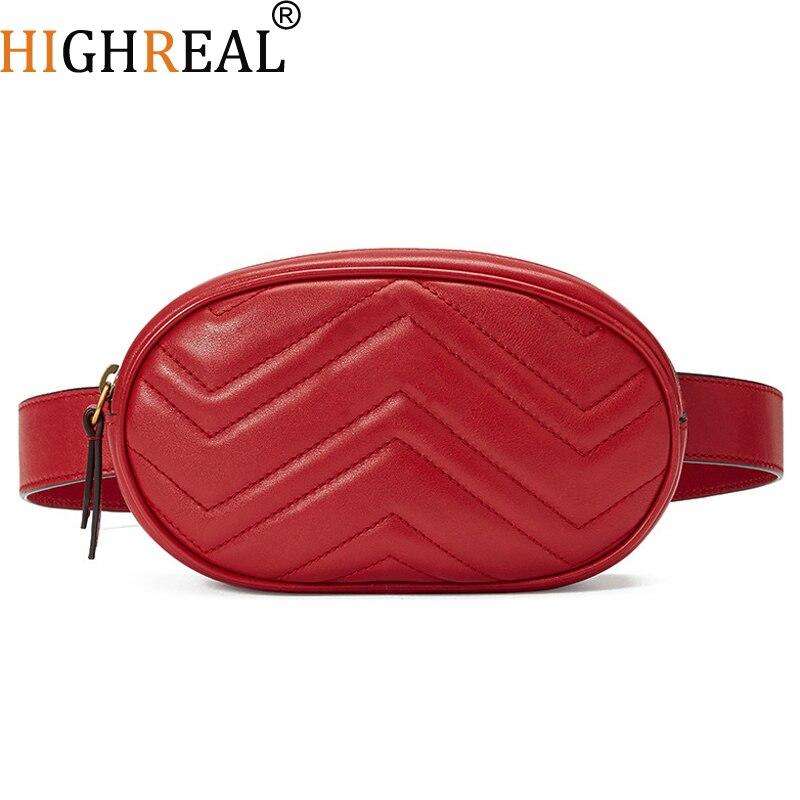 2d939f05d6 HIGHREAL 2018 Nouveau Hight Qualité Taille Sac Femmes Taille Emballe sac de  Ceinture De Luxe Marque