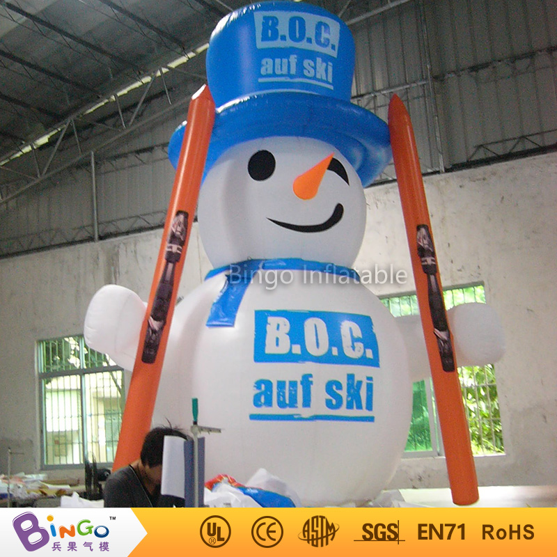 Free Shipping Nifty Inflatable Snowman Inflatable Snowman Replica with Sled N Blower for Christmas decoration inflatable toys free shipping 3m inflatable ice cream with blower hot sale inflatable oxford nylon cloth model for inflatable toys