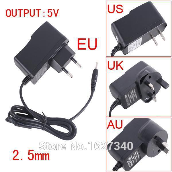 YKSPACE 2A 5V Universal Wall 2.5mm EU US UK Plug Charger for Mobile Phone Huawei Samsung Tablet pc Android Tablets