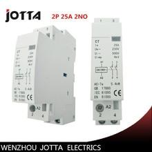ФОТО 2p  25a 220v/230v 50/60hz din rail household ac contactor 2no