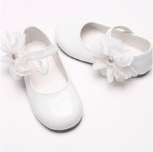 INS gorąca sprzedaż dziewczęce lakierki PU skórzane buty księżniczki kwiat z koroną z kryształów górskich wystrój z miękką antypoślizgową podeszwą impreza na biało buty tanie tanio Na niskim obcasie RUBBER Dziewczyny Pasuje dla większych rozmiarów niż zwykle Proszę zapoznać się z następującą informacją o rozmiarach ze sklepu