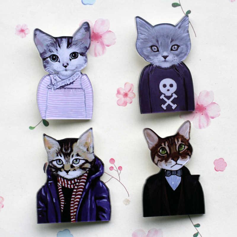 Japon çift kedi büyükanne kedi siyah kedi broşlar iğneler geri emaye broş rozeti güvenli yaka Pin kadınlar takı hediyeler