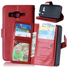Luxury Flip Leather Mobile Phone Case For Samsung Galaxy Core Prime G360 G360H G3606 G3608 Wallet Cover Cases With Card Slot