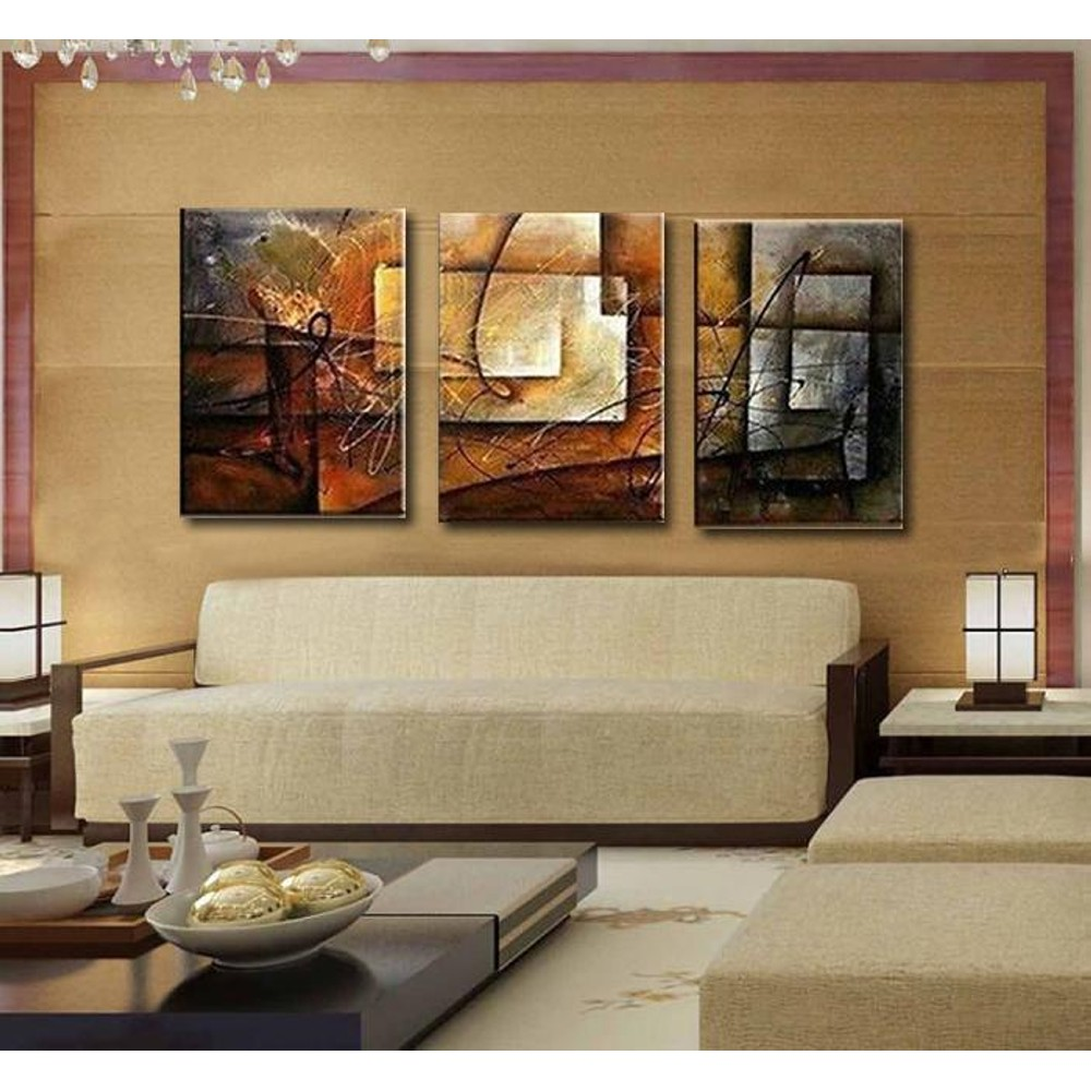 3pcs Unframed Canvas Oil Painting Set Stylish Cuadros Decoration For Wall Art Home Decor Living Room