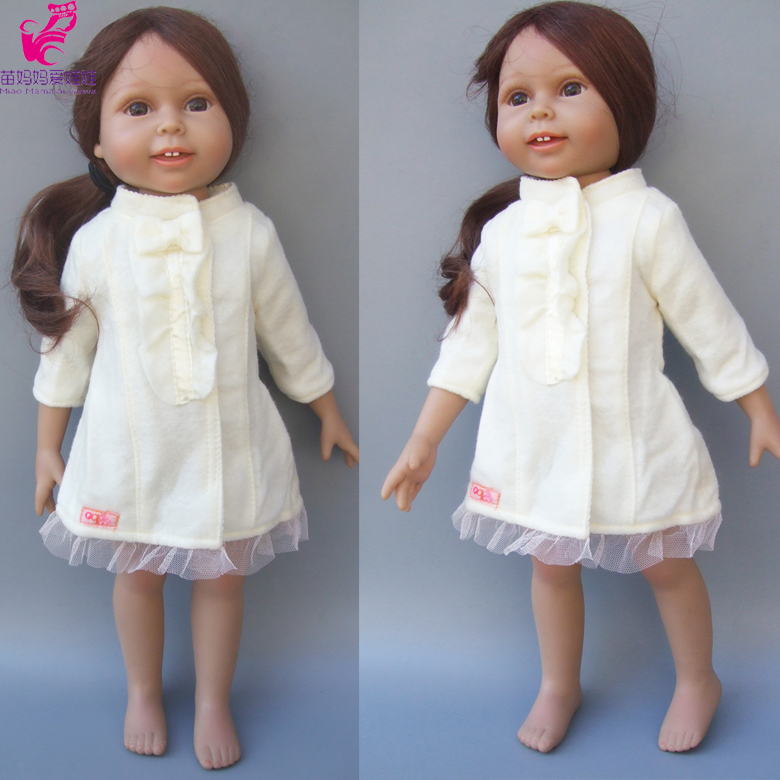 Fashion Doll Clothes Woolen coat for 18 45CM American Girl Doll Clothes fit for 43cm Zapf new born baby dolls rose christmas gift 18 inch american girl doll swim clothes dress also fit for 43cm baby born zapf dolls