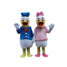 Adult One pair of Donald Duck and Daisy Mascot Costumes Free Shipping mascot costumes for adults