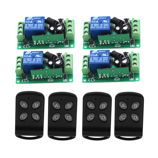 ФОТО MITI-315Mhz DC12V 1CH RF Wireless Remote Control Switch 10A Relay Receiver Radio Switch SKU: 5153