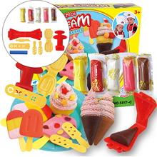 DIY 3D Color Dough Clay Play Ice Cream Maker Tools Mold Toy Kitchen Set Children Kid Education Toy